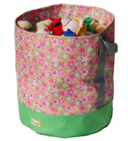 Toy storage basket [flower pattern]