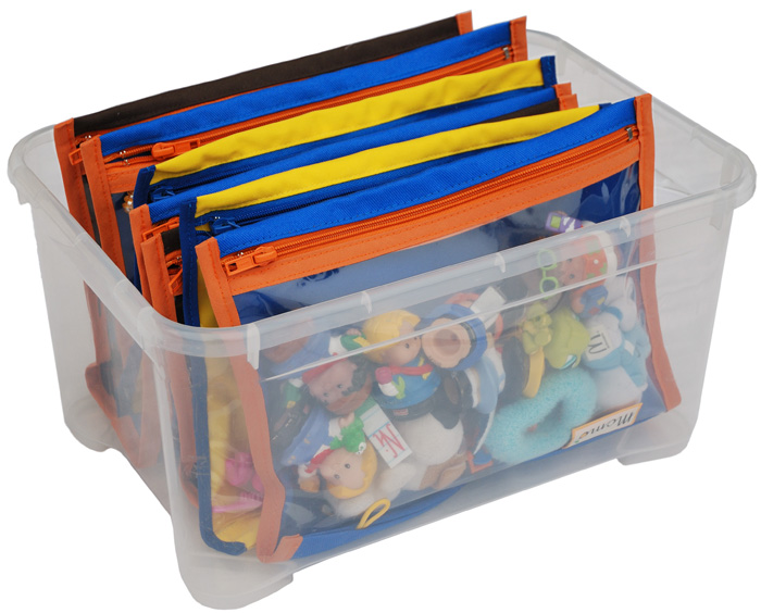 toy bin - color pockets
